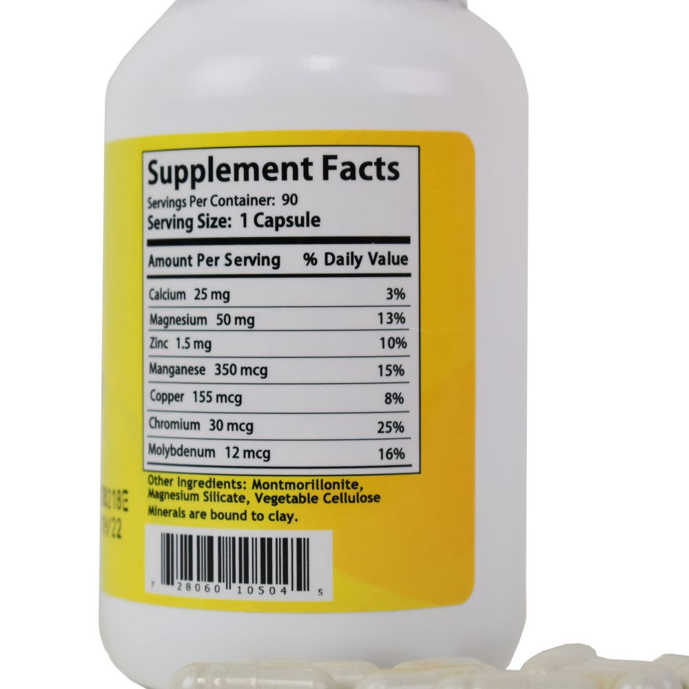Magnesium Nutritional Lable